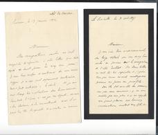 Rouen Quelques Autographes  Docteur Coutan ( 1892 - 1895 )  Abbé Du Vauroux ( 1872 - 1875 )  ...... - Autographs