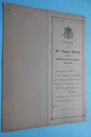 Etude Notaire Raoul NOLS à Berchem-Sainte-Agathe( Van Merhaegen-Wieleman) Anno 1943 ( Voir / Zie Foto ) ! - Oude Documenten