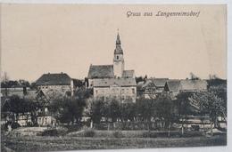 (329) Gruss Aus Langenreimsdorf - Kerk Met Enkele Huizen . - Souvenir De...