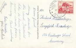 Island: 1952: Ansichtskarte Nach Lengefeld - Islande