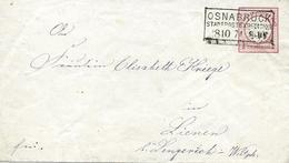 Osnabrück (Niedersachsen) Entier Postal 1874 Voir 2 Scan - Allemagne