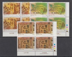 Malta 1987 Anniversairies 3v Bl Of 4 (corner)  ** Mnh (43826A) - Malta