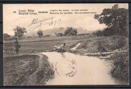 Congo - Entier Postal Stibbe 42 - Vue 56 Kitobola Irrigation Des Rizières - Sakania Bruxelles Belgique - 1913 - C8 - Ganzsachen