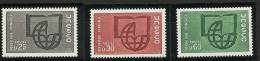 "FR Service YT 36 à 38 "" UNESCO Alphabétisation "" 1966 Neuf** - Mint/Hinged"