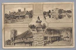 UK.- Greetings From STRATFORD ON AVON. ANN HATHAWAYS COTTAGE, SHAKESPEARE MEMORIAL THEATRE, BIRTHROOM, GRAMMAR SCHOOL, - Andere