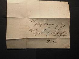 Baden Dienst Faltbrief+Inhalt RA 2 Boxberg 5.12.1860 Mit Taxe Blau 4 Gelaufen - Baden