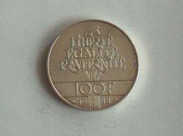 FRANCE 100 Francs 1988 - Silver, Argent - France