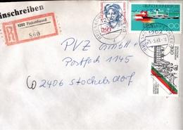 ! 1 Einschreiben 1993  Mit Alter Postleitzahl + DDR R-Zettel  Aus 1202 Finkenheerd - [7] République Fédérale