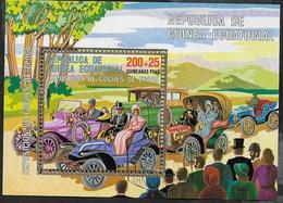 GUINEA EQUATORIALE - 1977 - AUTO ANTICHE  - BLOCCO USATO - (MICHEL BL 228) - Automobili