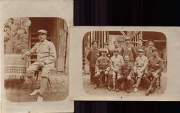 Allemagne, Prisonniers De Guerre, Camp De Mannheim, Famille Besançon, Lot De 2 Carte    (bon Etat) Carte Photo. - Guerra 1914-18