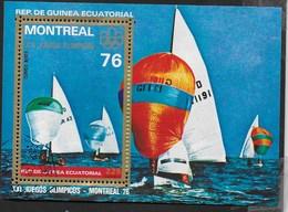 GUINEA EQUATORIALE - 1976 - GIOCHI OLIMPICI ESTIVI MONTREAL - VELA - BLOCCO USATO - (MICHEL BL 209) - Estate 1976: Montreal