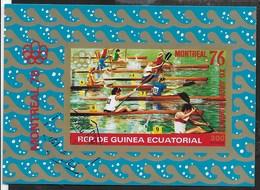 GUINEA EQUATORIALE - 1976 - GIOCHI OLIMPICI ESTIVI MONTREAL - CANOTAGGIO - BLOCCO USATO - (MICHEL BL 210) - Estate 1976: Montreal