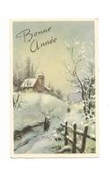 Carte Mignonnette - Bonne Année , Paysage De Neige - Nouvel An