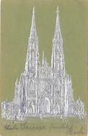 Wien 9., Dekorative Prägekarte Votivkirche In Silber 1902 !!! - Non Classés