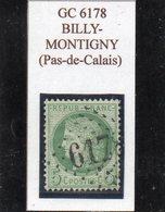 Pas-de-Calais - N° 53 Obl GC 6178 Billy-Montigny - 1871-1875 Cérès