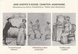 BL202. Postcard. Jane Austen's House, Chawton, Hampshire. Pride And Prejudice - Writers