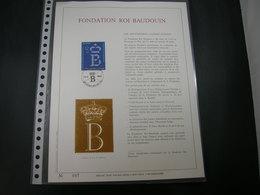 "BELG.1986 2204 FDC Filatelic Gold Card FR. : "" FONDATION ROI BAUDOUIN "" - 1981-90"