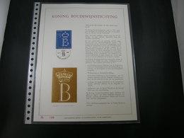 "BELG.1986 2204 FDC Filatelic Gold Card NL. : "" KONING BOUDEWIJN STICHTING "" - 1981-90"