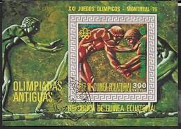 GUINEA EQUATORIALE - 1976 - GIOCHI OLIMPICI ESTIVI MONTREAL  - BLOCCO USATO - (MICHEL BL 202) - Estate 1976: Montreal