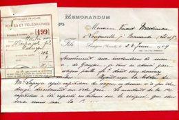 FACTURE (Réf : X 823) MEMORANDUM ~GRAINS ET FOURRAGES~ CH. DESPUJOLS FILS ~~LANGON (gironde) - France