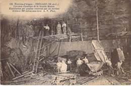 METIERS Mines ( Extraction D'ardoise ) 49 - TRELAZE ( Près Angers ) Carrières D'ardoises ( Animation ) CPA Maine Loire - Mines