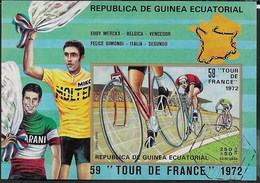 GUINEA EQUATORIALE - 1973 - CICLISMO - TOUR DE FRANCE - BLOCCO USATO - (MICHEL BL 73) - Ciclismo
