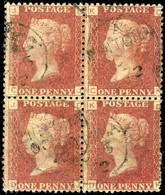 Great Britain. SG #43. Used Block Of 4. Plate 137. - Usados