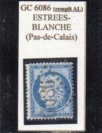 Pas-de-Calais - N° 60C Obl GC 6086 Estrées-Blanche (Remplaçant Alsace-Lorraine) - 1871-1875 Cérès