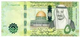Saudi Arabia 50 Riyals 2016 UNC S/N A0 - Arabia Saudita