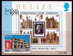 """BELIZE -  BLOC  N° 7 ** (1979) """"London 1980"""" - Belize (1973-...)"""