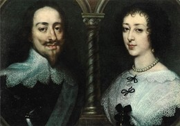 Firenze Galleria Pitti Antonio Van Dyck Carlo 1° D'Inghilterra Ed Enrichetta Di Francia (2 Scans) - Malerei & Gemälde
