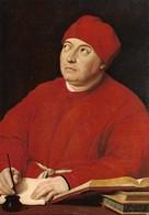 Firenze Galleria Pitti Raffaello Cardinale Inghirami (2 Scans) - Malerei & Gemälde