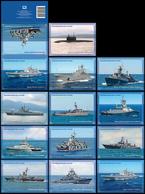 "2019-131-142 A 14 Postal Card's ""B"" Russia Russland Russie The Russian Black Sea Fleet. Militaty Ships And Submarine - 1992-.... Fédération"
