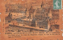 75-PARIS ANCIEN PALAIS DE LA CITE AU XIV SIECLE-N°1196-F/0115 - Francia