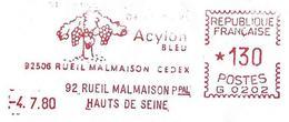 France 1980 Rueil Malmaison - Acylon Bleu : Produit Fongicide / Plant Pathogenic Fungi  Vignes / Vines. EMA HAVAS Meter. - Agricoltura