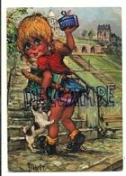 "Petite Fille, Chien, Bonbons, ... . ""Poulbot"" 12 Michel Thomas - Thomas"