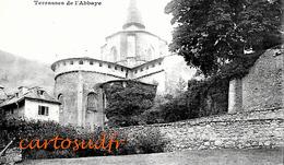 65 SAINT SAVIN - L'ABSIDE DE L'EGLISE & TERRASSES DE L'ABBAYE - SUPERBE - France