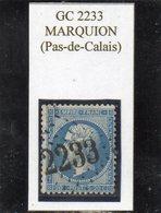 Pas-de-Calais - N° 22 Obl GC 2233 Marquion - 1862 Napoléon III