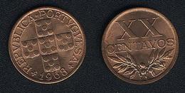 Portugal, 20 Centavos 1968, UNC - Portugal