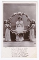 AK36 Children - Three Girls With A Wreath Of Roses - RPPC - Children And Family Groups