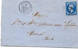 Pas-de-Calais - LAC Affr N° 22 Obl GC 2234- Càd Type 15 Marquise - 1849-1876: Période Classique