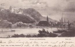 AM37 Gruss Aus Heidelberg - Early Undivided Back, Local Publisher - Heidelberg