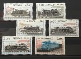MONACO # 692-697. Locomotives & Views. MNH (**) - Monaco