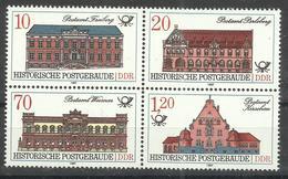 """DDR 3069I Im ZD."""" 4 Briefmarken Historische Postgeschichte, ZD Satz Kpl., 70 Pfg.-Wert Mit PF"""" Postfr. Mi.-Preis 18,50 - [6] République Démocratique"""