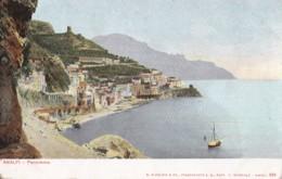 AO11 Amalfi, Panorama - Early Undivided Back - Salerno