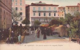 La Corse Ajaccio Un Coin Du Marché Et Les Magasins Pugliesi édition Martin Paoli N°16 - Ajaccio