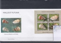 Wallis Und Futuna Michel Cat.No. FDC Sheet 17 Shells - FDC