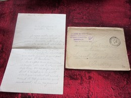 WWI ASS. DAMES FRANÇAISES HÔPITAL AUXILIAIRE TERRITOIRE 201 MARSEILLE GUERRE Marcophilie Lettre+COURRIER/ST PLANTAIRE 36 - Marcophilie (Lettres)