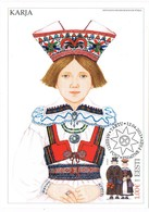 33559. Tarjeta Maxima TARTU (Estonia) Eesti 2013. Traje Tipico KARJA, Women Costume - Estonia