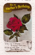 AP59 Greetings - Mother's Birthday - Rose, RPPC - Birthday